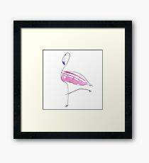 flamingo vogue Framed Print