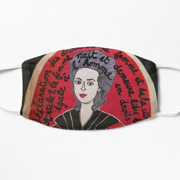 Olympe de Gouges street art  Mask