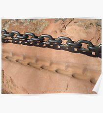 Sandstone and Metal Chain Poster