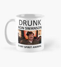 Betrunkener Ron Swanson ist mein Geist-Tier Tasse (Standard)