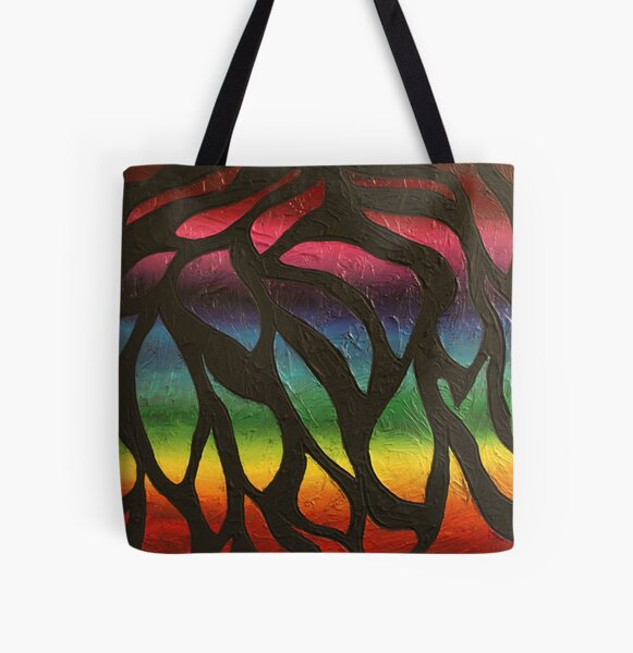 Fire Flame Painting All Over Print Tote Bag