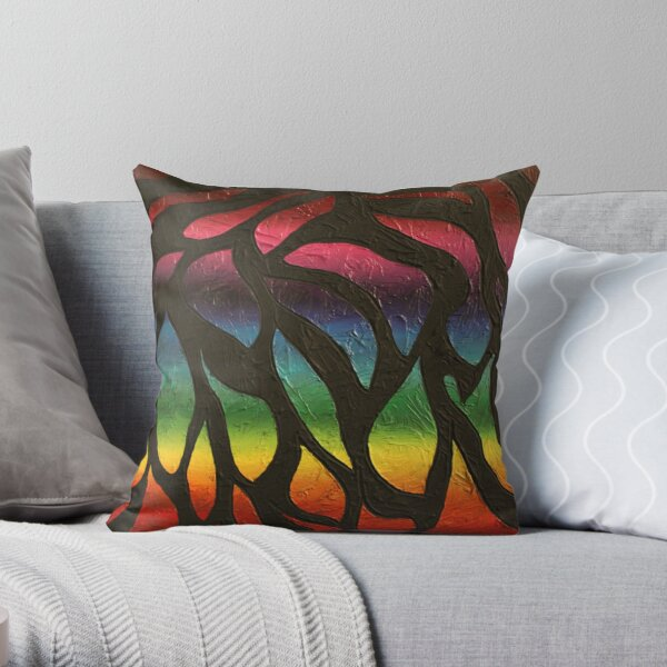 Fire Flame Painting Throw Pillow