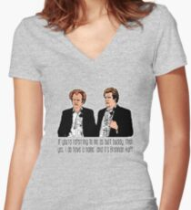 """Step Brothers - """"If You're Referring to Me..."""" Women's Fitted V-Neck T-Shirt"""