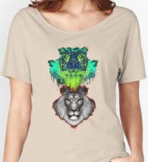 Tigers And Lions In Colour Women's Relaxed Fit T-Shirt