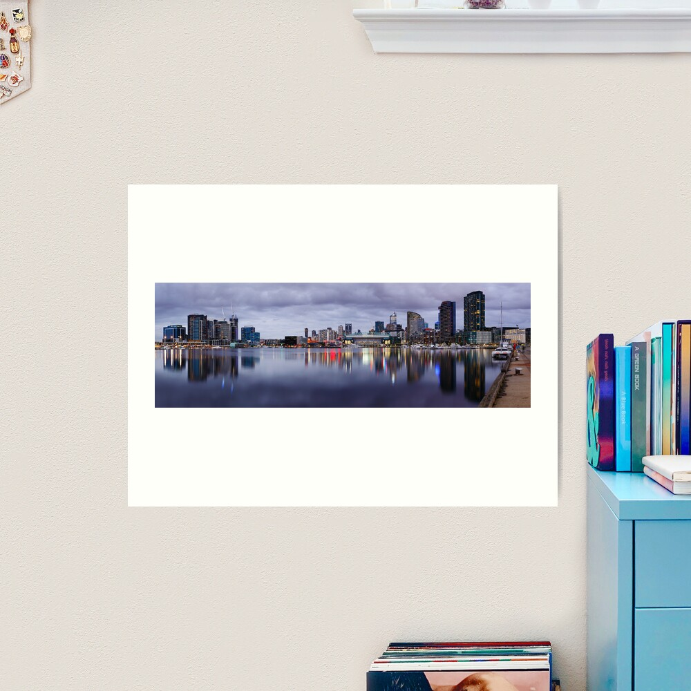 Docklands Evening, Melbourne, Victoria, Australia Art Print
