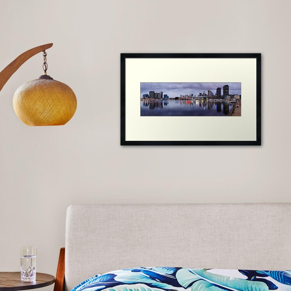 Docklands Evening, Melbourne, Victoria, Australia Framed Art Print