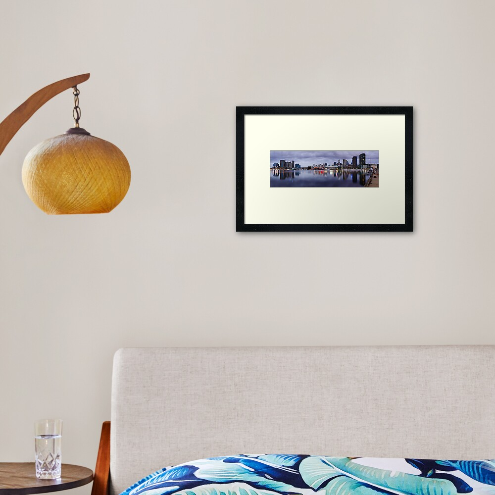 Docklands Evening, Melbourne, Victoria, Australia Framed Art Print