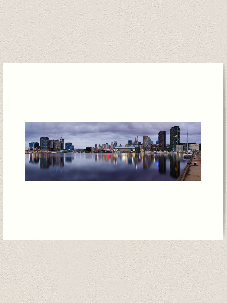 Alternate view of Docklands Evening, Melbourne, Victoria, Australia Art Print
