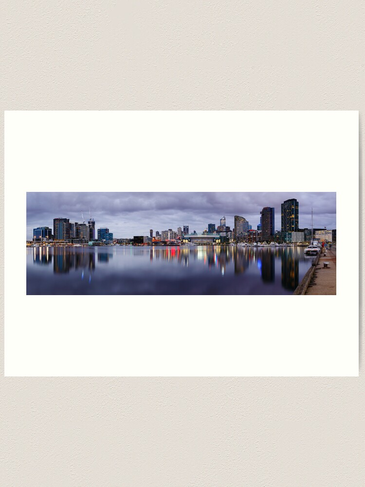 Alternate view of Docklands Evening, Melbourne, Victoria, Australia Art Print