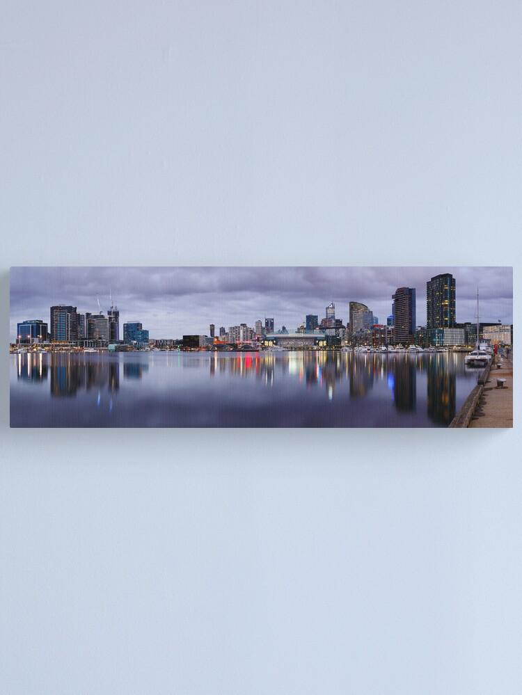 Alternate view of Docklands Evening, Melbourne, Victoria, Australia Canvas Print