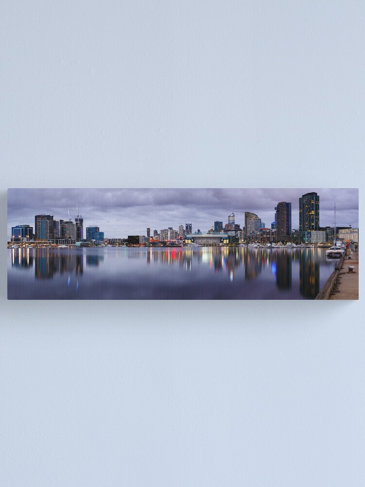 Alternate view of Docklands Evening, Melbourne, Victoria, Australia Canvas Print