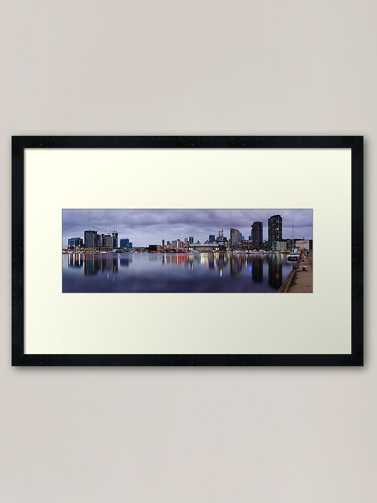 Alternate view of Docklands Evening, Melbourne, Victoria, Australia Framed Art Print