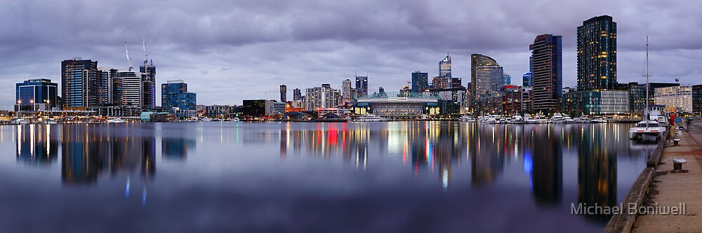 Docklands Evening, Melbourne, Victoria, Australia by Michael Boniwell