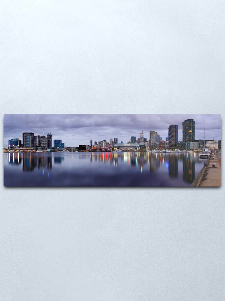 Alternate view of Docklands Evening, Melbourne, Victoria, Australia Metal Print