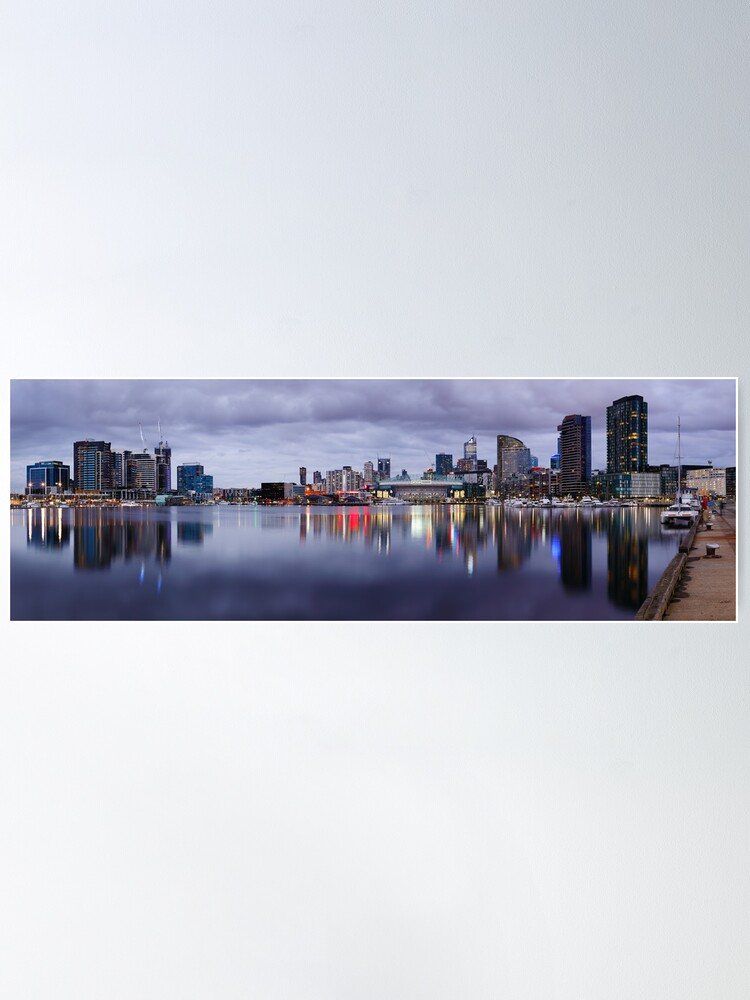 Alternate view of Docklands Evening, Melbourne, Victoria, Australia Poster