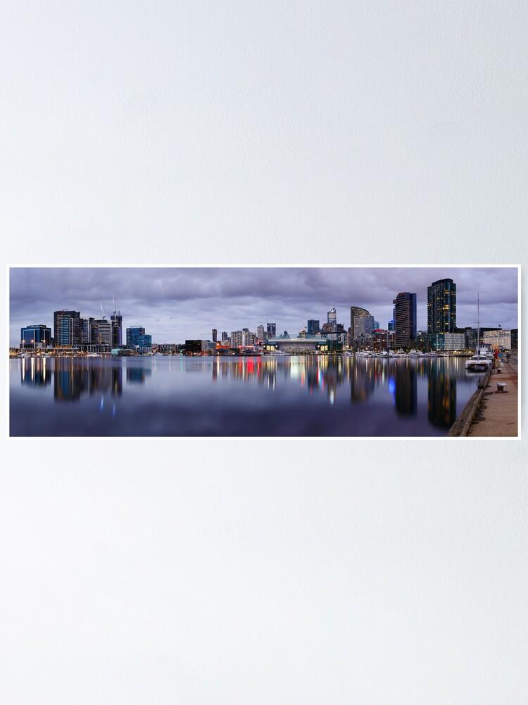 Alternate view of Docklands Evening, Melbourne, Victoria, Australia Poster