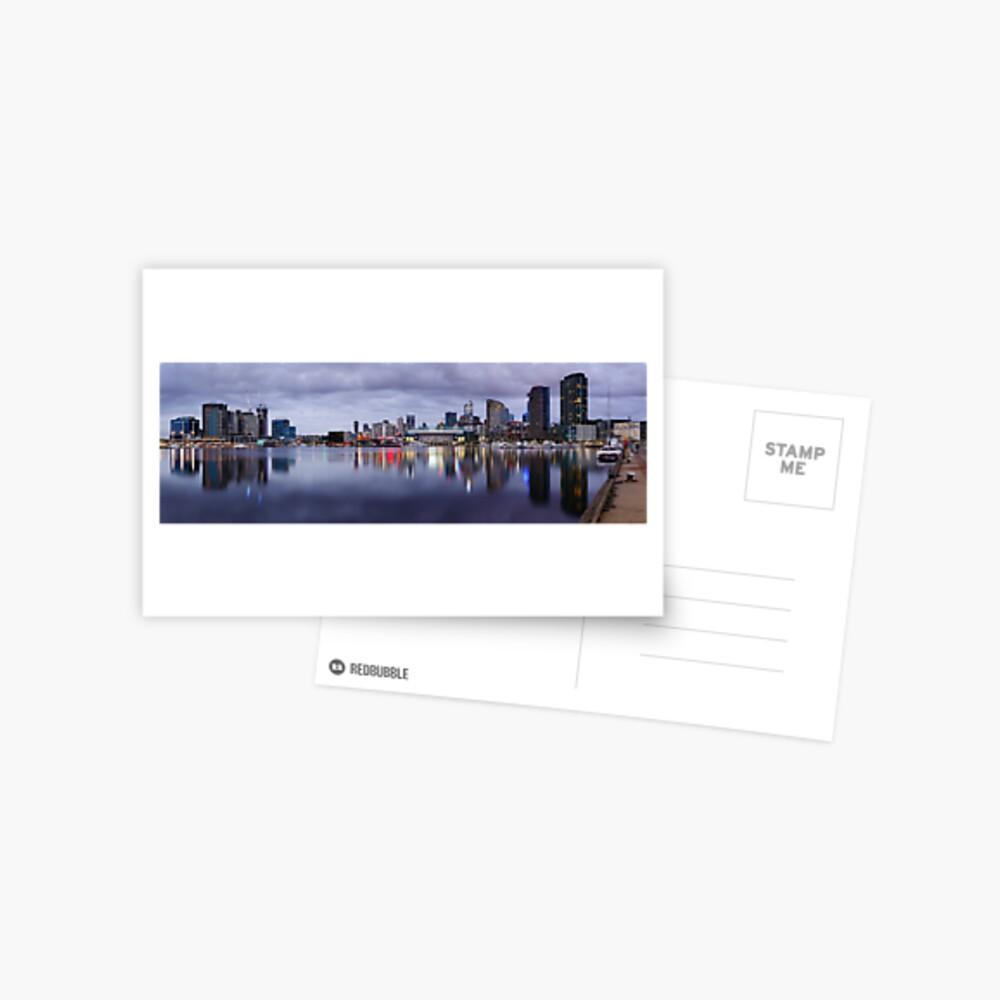 Docklands Evening, Melbourne, Victoria, Australia Postcard