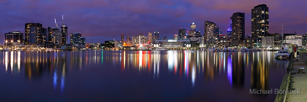 Docklands Twilight, Melbourne, Victoria, Australia by Michael Boniwell
