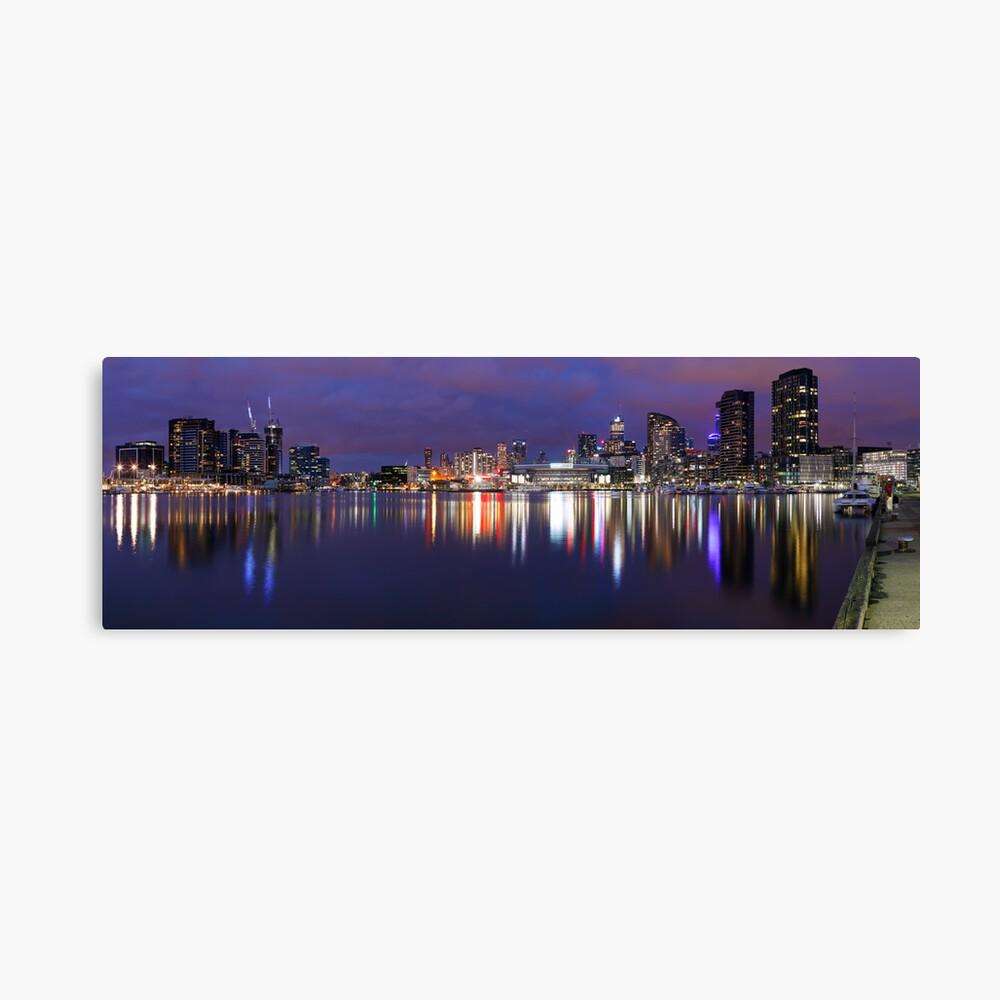 Docklands Twilight, Melbourne, Victoria, Australia Canvas Print