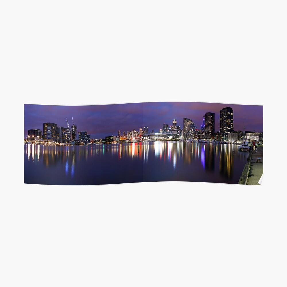 Docklands Twilight, Melbourne, Victoria, Australia Poster