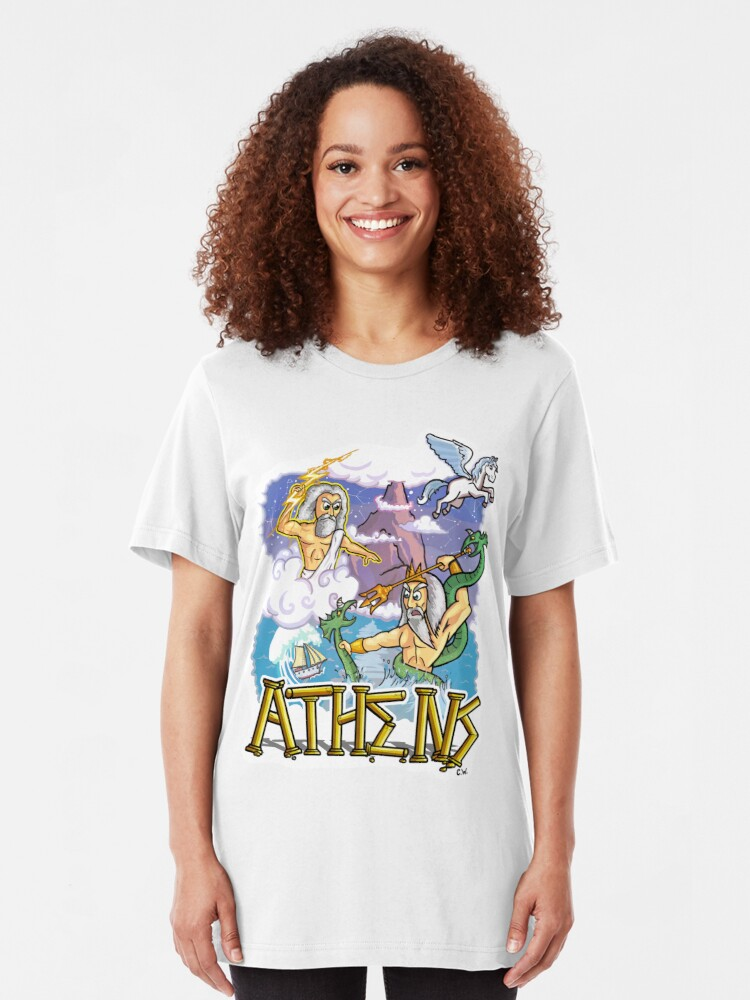 Alternate view of Ancient Athens Slim Fit T-Shirt