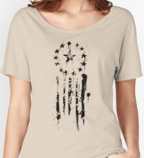 Old World Flag- Black Women's Relaxed Fit T-Shirt