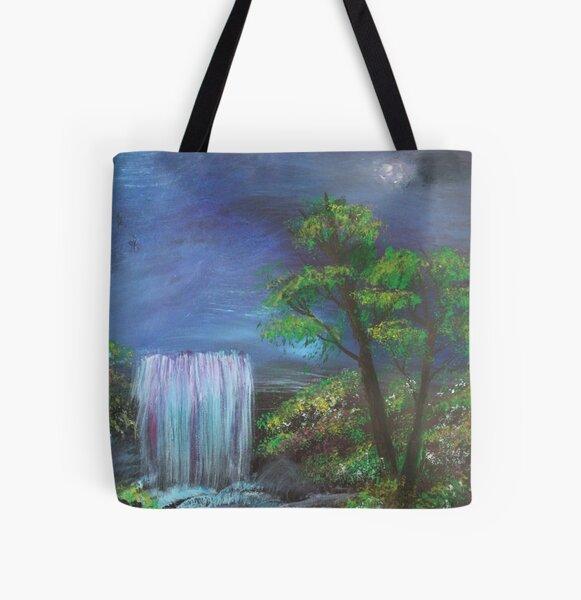 Fantasy Falls Painting All Over Print Tote Bag