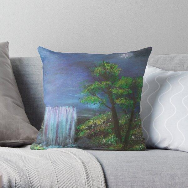 Fantasy Falls Painting Throw Pillow