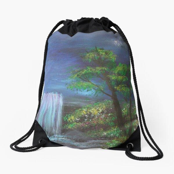 Fantasy Falls Painting Drawstring Bag