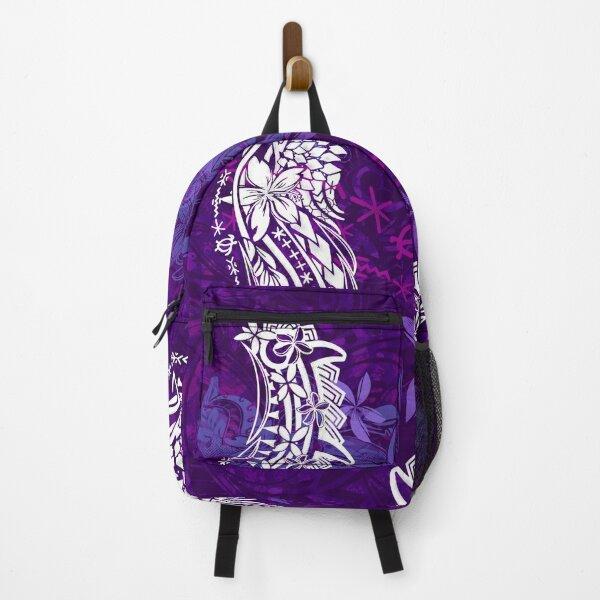 Polynesian Purple Rain Jungle Tribal Threads Backpack