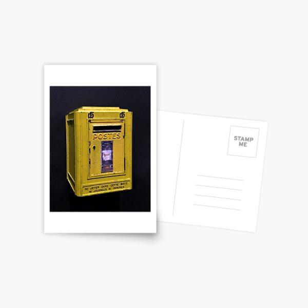 Yellow French Mailbox Postcard