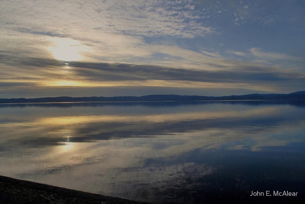 sunset on the lake by John E. McAlear