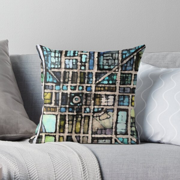 Indianapolis, IN Throw Pillow