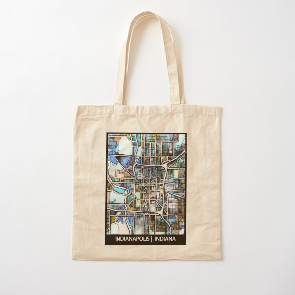 Indianapolis, IN Cotton Tote Bag