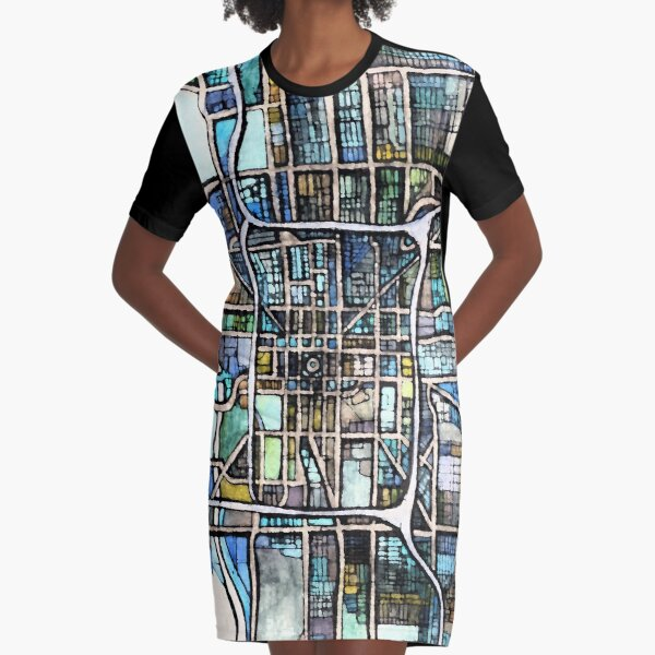 Indianapolis, IN Graphic T-Shirt Dress