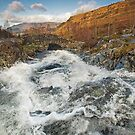 Barrow Beck in full spate at Ashness Bridge in the English Lake District by Martin Lawrence