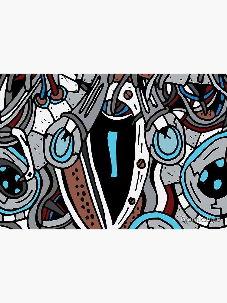 Sapphire Elytron (Cyborg Bug) by Graphicsbyte
