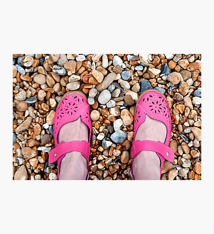 The Pink Shoes Photographic Print