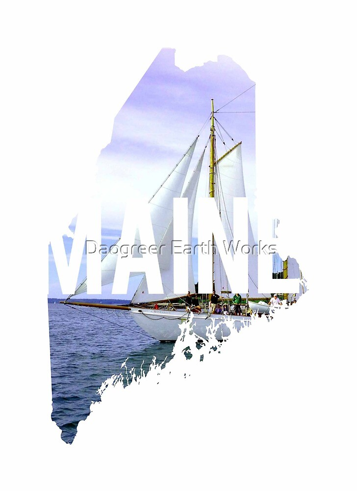 Maine Sailboat by Daogreer Earth Works