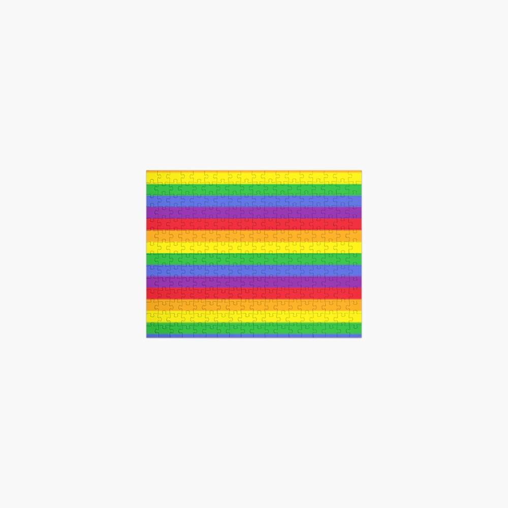 Colors, Rainbow Stripes Jigsaw Puzzle