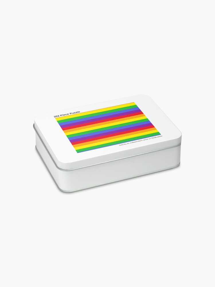 Alternate view of Colors, Rainbow Stripes Jigsaw Puzzle