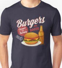 Burgers and Booze Unisex T-Shirt