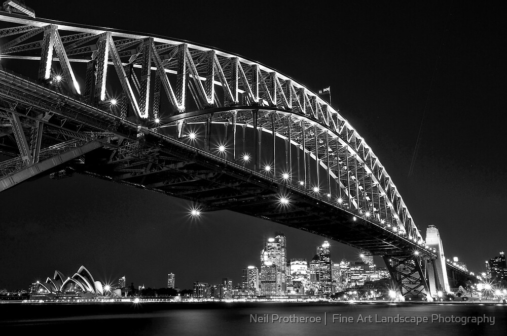 Nightfall, Sydney Harbour Bridge by Images Abound | Neil Protheroe
