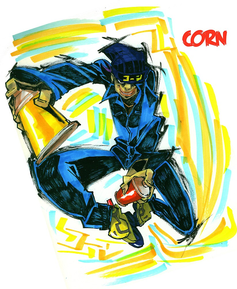 Jet Set Radio fanart : Corn by Rafchu
