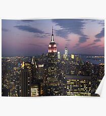 New York, Empire State Building at Dusk Poster