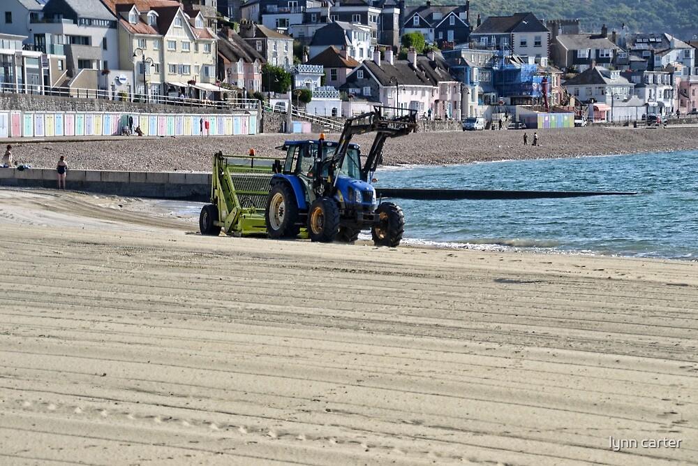 Clean Up Time at Lyme Regis, Dorset UK by lynn carter