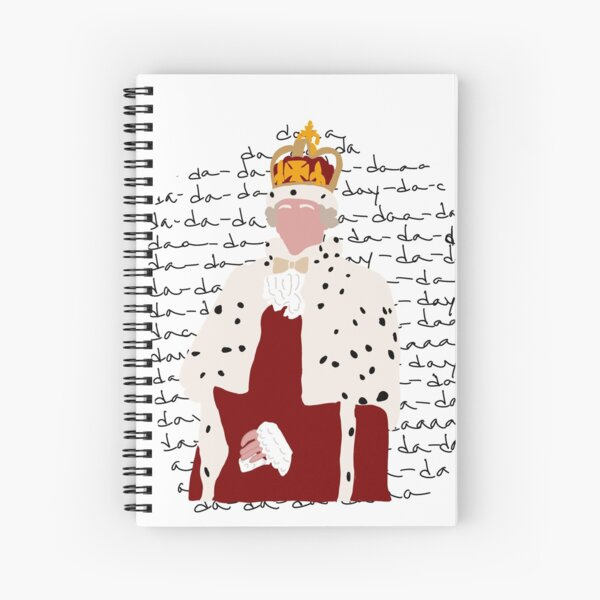 King George from Hamilton Spiral Notebook