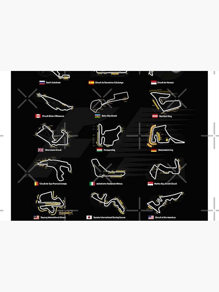 All F1 Tracks by WilliamStones
