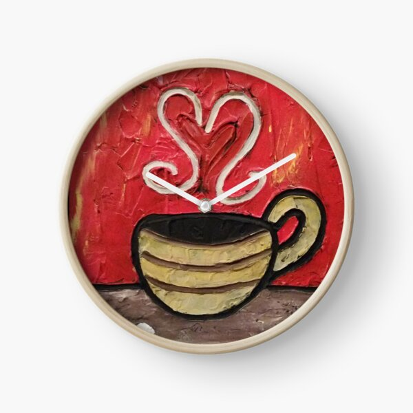 Coffee Cup Painting Clock