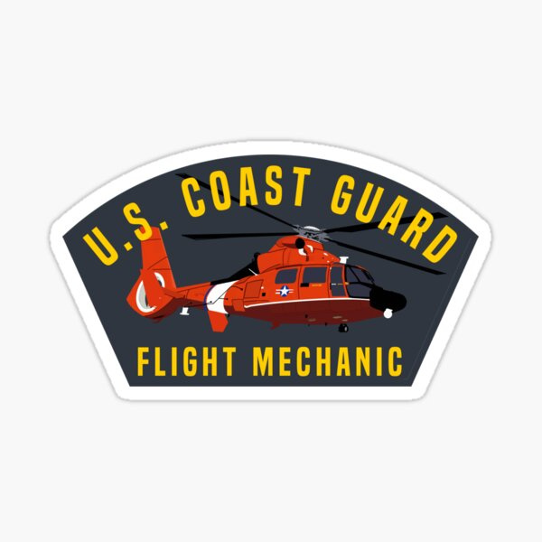 Cover Art Series - Coast Guard MH65 Dolphin Helicopter Flight Mechanic Sticker